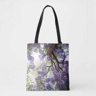 Wisteria Purple Flower Pretty Floral Tote Bag