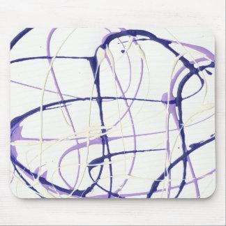 Wisteria Purple Paint Splatter Mousepad