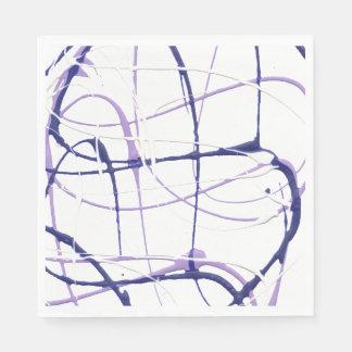 Wisteria Purple Paint Splatter Napkins Paper Napkins