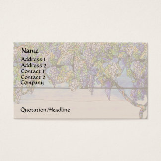 Wisteria Stained Glass Business Card