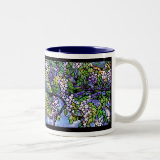 Wisteria Tiffany Stained Glass Mug