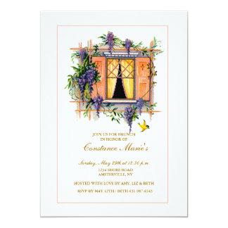 """Wisteria Trellis Invitation 5"""" X 7"""" Invitation Card"""