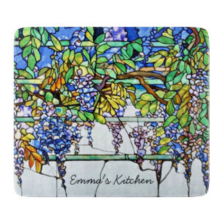 Wisteria Vintage Floral Tiffany Stained Glass Boards