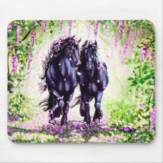 """Wistful Friesians"" Mouse Pad"