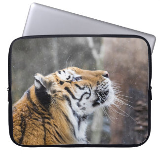 Wistful Winter Tiger Laptop Sleeve