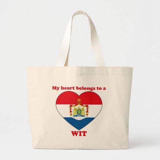 Wit Tote Bag