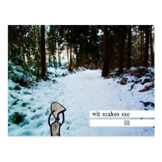 wit makes me ill postcard