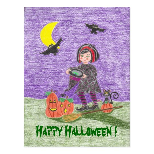 Witch 3, Happy Halloween ! Postcard