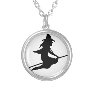 Witch #6 silver plated necklace