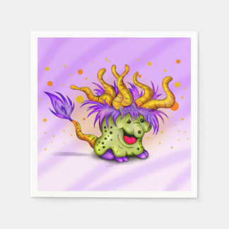 WITCH ALIEN MONSTER NAPKINS Standard Cocktail Disposable Napkins
