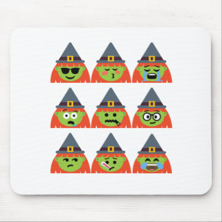witch All Emoji Halloween Mouse Pad