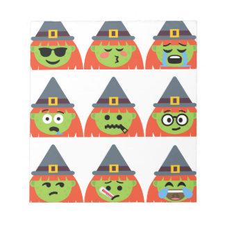 witch All Emoji Halloween Notepad