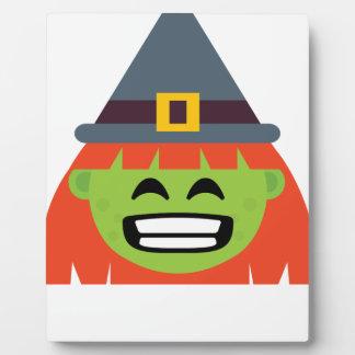 witch All Emoji Halloween Plaque