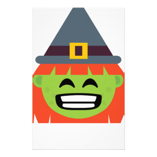 witch All Emoji Halloween Stationery