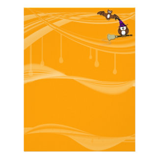 witch and bat owls letterhead