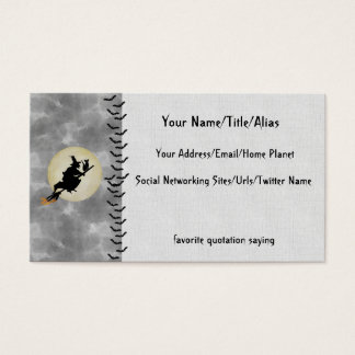 Witch and Cat Business Card