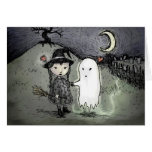 Witch and Ghost in Love Greeting Card