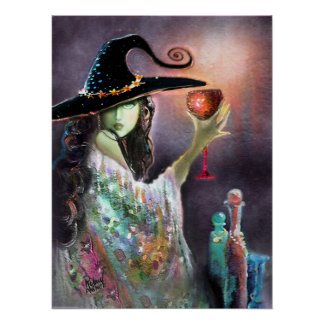 Witch and Goblet Poster