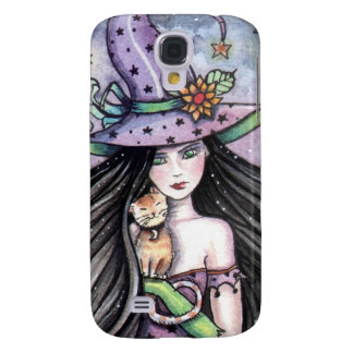 Witch and Orange Tabby Cat iPhone Case