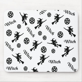 Witch and Pentacles mousepad