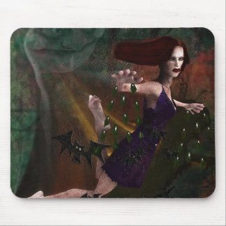 Witch and the Moon Mouse Pad