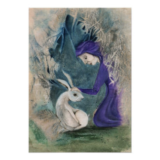 Witch and White Hare Poster