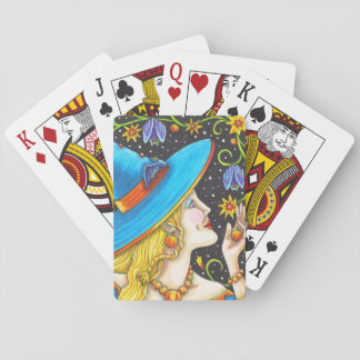 Witch & Bat Vine Halloween STANDARD PLAYING CARDS