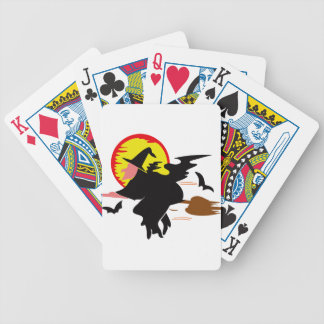 Witch Bicycle Playing Cards