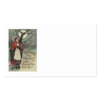 Witch Black Cat Full Moon Business Card Template