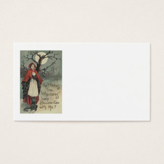 Witch Black Cat Full Moon Business Card