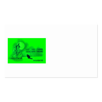 Witch Black Cat Full Moon Cards Green Pack Of Standard Business Cards