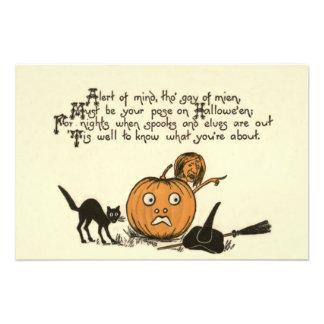 Witch Black Cat Jack O Lantern Photo Art
