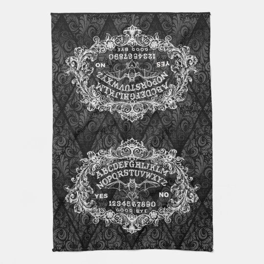 Witch Board kitchen towel