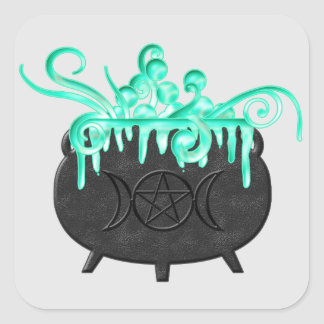 Witch Brew Pagan Magick Potion Cauldron Stickers