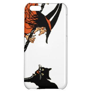 Witch Broom Black Cat iPhone 5C Cover