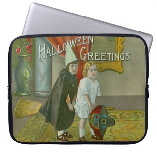 Witch Broom Children Costume Trick Or Treat Laptop Computer Sleeve