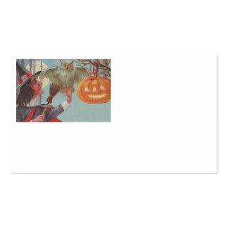 Witch Broom Jack O Lantern Owl Moon Business Card