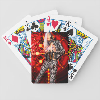 Witch casting a spell bicycle playing cards