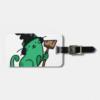Witch Cat Bag Tag