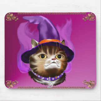 Witch Cat Face mousepad
