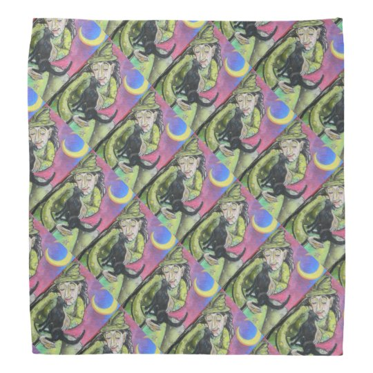 Witch Cat Pattern Do-rags
