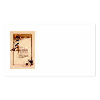 Witch Cauldron Bat Full Moon Business Card