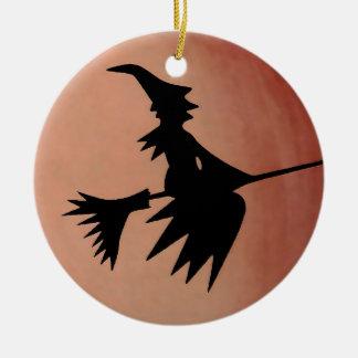Witch Ceramic Ornament