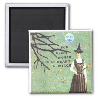 witch collage magnet