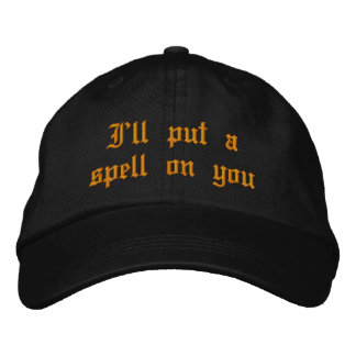 Witch Embroidered Hat