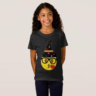 Witch Emoji Halloween T-Shirt for Girls