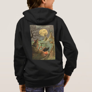 Witch Fire Cauldron Full Moon Night Hoodie