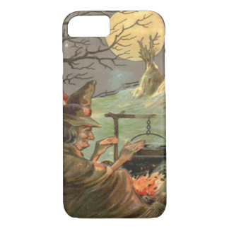 Witch Fire Cauldron Full Moon Night iPhone 8/7 Case