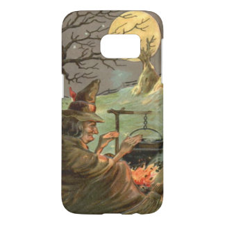 Witch Fire Cauldron Full Moon Night Samsung Galaxy S7 Case