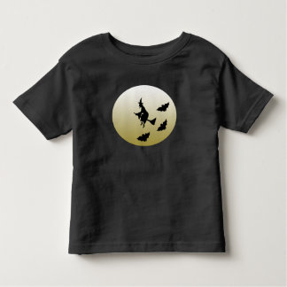 Witch flying toddler t-shirt